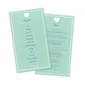 Happy Wedding day_menu(단면)